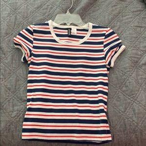 striped tight t shirt